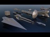 Студия MetaBallStudios подготовила простое, но очень наглядное видео-сравнение космических кораблей. В подборку вошли космические корабли из фильмов Звездные войны, Halo, Интерстеллар, Космическая одиссея, а также настоящие объекты из космоса, напри