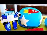 Мультфильмы про машинки. Видео из игрушек Робокар Поли. Торт на День рождения.