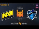 NaVi vs Vega 1 bo2 Ru Dota Pit S4 31.01.2016 Dota 2
