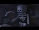 Мультфильм про майнкрафт 2 Невезучий скелет и алмаз мульт, прикол