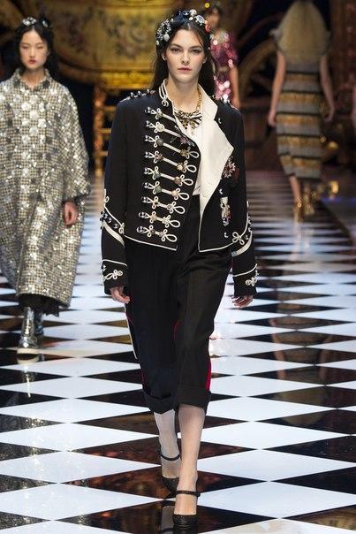 Коллекция Dolce & Gabbana осень/зима 2016 — Милан.