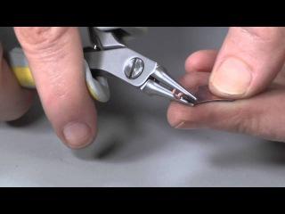 Медный браслет с заклёпками мк