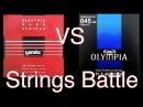 Warwick red strings RoundWound vs Olympia FlatWound bass strings battle Обзор басовых струн