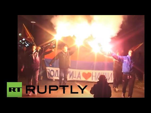 Черногория: 1000с знак протеста против планов по интеграции в НАТО.
