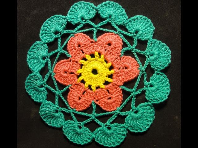 Салфетка подставка Вязание крючком Crocheting Napkin