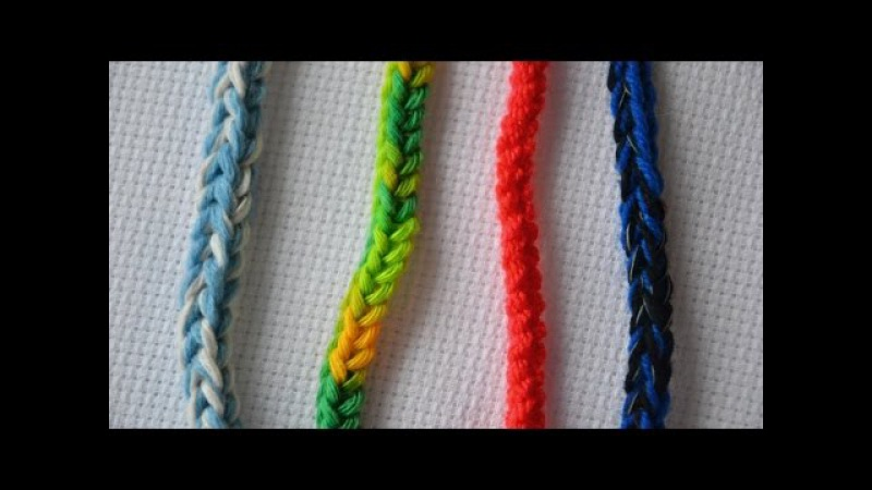 ♥ Как связать шнур крючком • Easy crocheted i-cord • Пошаговый мастер-класс