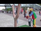 Энгри бердс игра в реальности на улице большая,парикмахерская с машинками,парк аттракционов БАТУТЫ