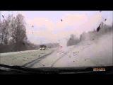 Лобовая авария, ужасный сюрприз с встречки, ДТП на зимней дороге