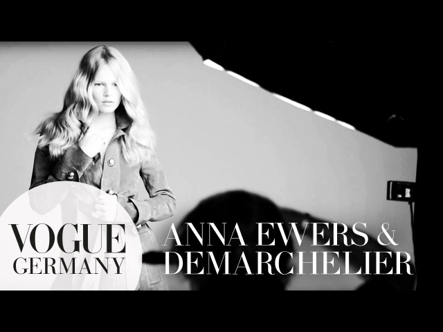 Patrick Demarchelier fotografiert Anna Ewers Cover Shoot bts fashion  VOGUE Behind the Scenes
