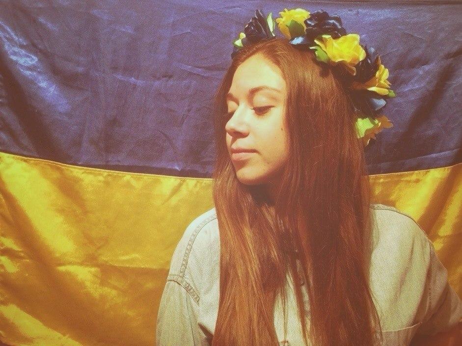 Українка у віночку