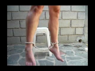hung bare feet