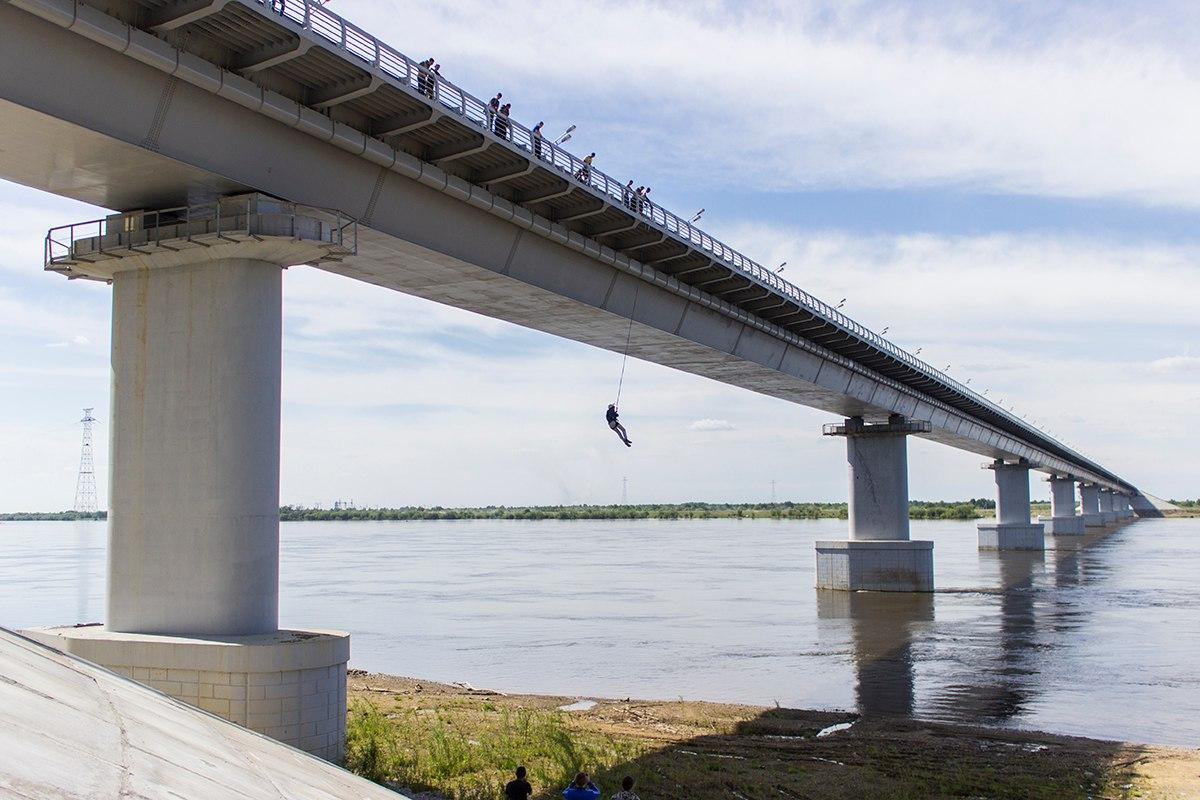 Афиша Хабаровск 23/07 с 15:00 Прыжки с моста на веревке