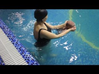 Aqua Baby Глеб 1,5 мес. Плаваем)