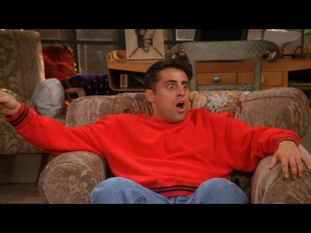 Друзья S05E05 Джоуи догадался об отношениях Моники и Чендлера
