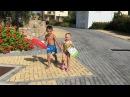 Instagram video by Маргарита Марсо Агибалова💋 • Все купаться 🏊🏼🏊🏼🏊🏼 Для наших детей это сейчас любимое занятие😄 Митя учится нырять, а Бэлла запрыгивает в бассейн и не вылезает о