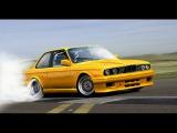 Сумасшедший дрифт на BMW 3-й серии E30. Дрифт шоу на бмв Е30