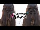 Peinados fáciles con semi recogidos en forma de mariposa