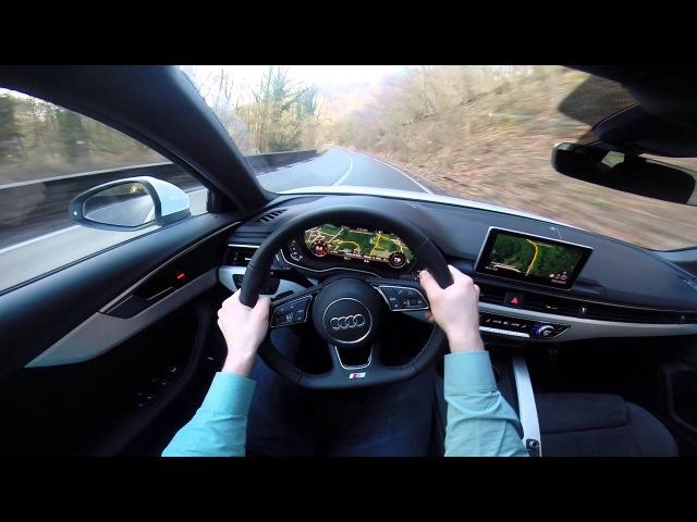 2016 Audi A4 Avant 2.0 TDI 190hp S Line POV test drive GoPro