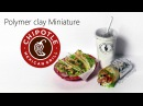 Simple Miniature CHIPOTLE Inspired Miniatures - Polymer Clay Tutorial