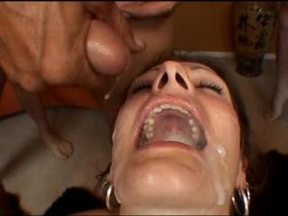 Amber roxx (brandon iron productions - cum swallow scenes)