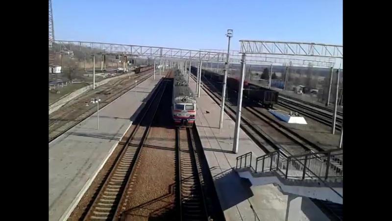 Електропоезд ЕР9м-523 Сообщением Лозовая-Полтава