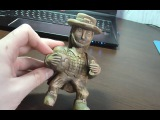 A wooden sculpture of a leprechaun . Part 3: Figurine of wood. Wood Сarving . How to do it .