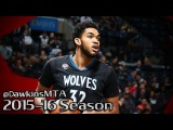 Karl-Anthony Towns Full Highlights 2015.12.20 at Nets - 24 Pts, 10 Rebs, 2 Blks, 2-GOOD!