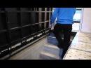 Люк в подвал под плитку на лестницу. Шикарная работа!