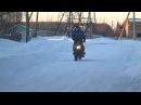 Зимний дрифт на скутере.