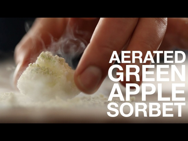 Recipe Aerated Green Apple Sorbet ChefSteps