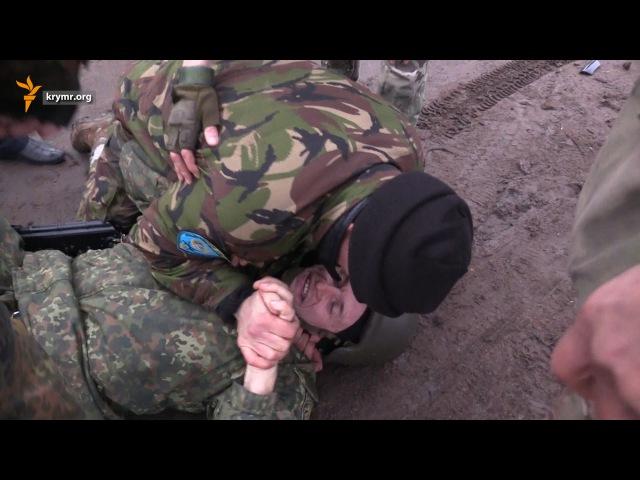 «Воины света» потасовка на блокаде Крыма