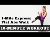 1 Mile Express Abs Walk - Low Impact Cardio Core Workout You Can Do At Home In a Small Space!
