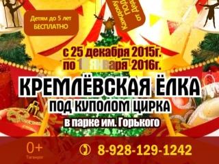 Кремлёвская елка под куполом цирка