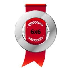 Серебряная медаль Открытого кубка 6х6