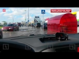 Ливень затопил дороги и парковки в Петербурге