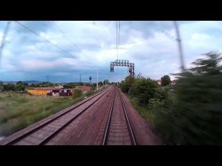 Train cab ride Bulgaria: Burgas - Sofia