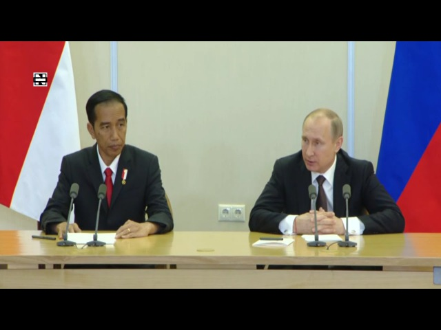 Putin Widodo Hold Joint Press Conference