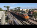 BNSF Railway HD 60 FPS: Assorted Intermodal Freight Action @ Fullerton (3/6/16)