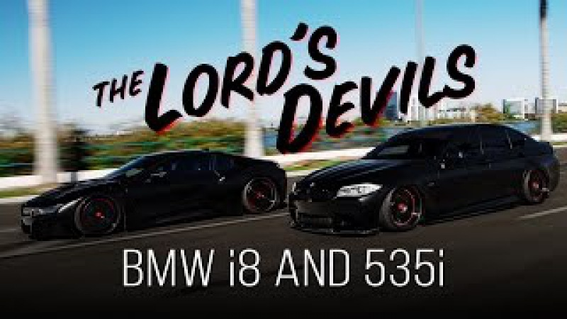 BMW i8 and 535i The Lord's Devils