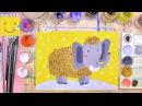 Как нарисовать мамонта - урок рисования для детей от 4 лет, рисуем дома поэтапно