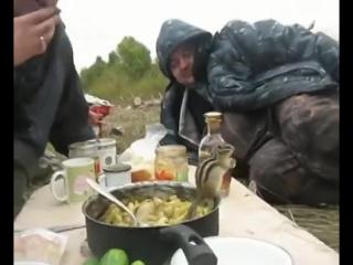 Бурундук кушает картошку с мужиками! ツ (прикол, юмор, шутки, смешное видео, животные)