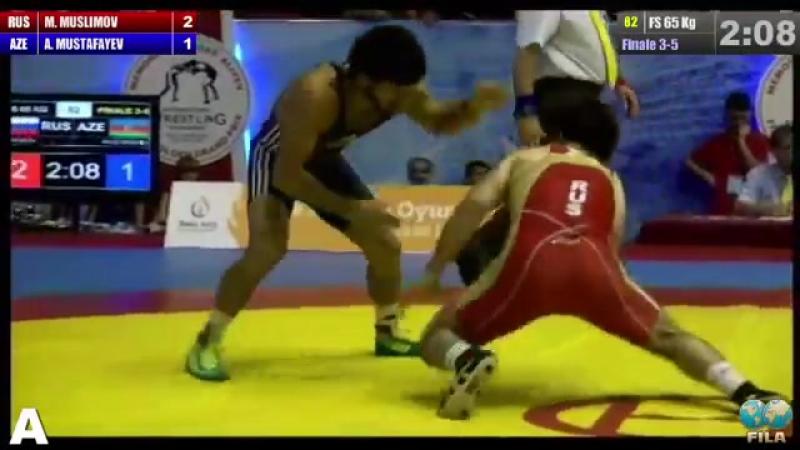 GGP-2014 - Murtuz Muslumov (RUS) - Agahuseyn Mustafayev FS 65 kg bronze medal match