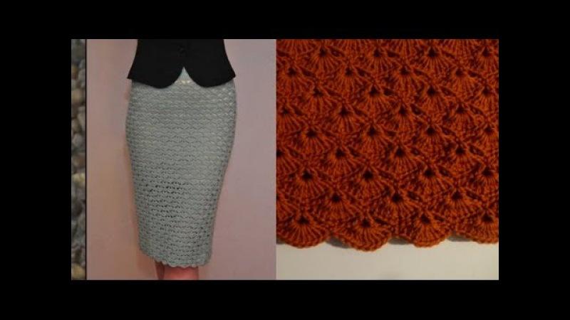Оригинальная юбка крючком