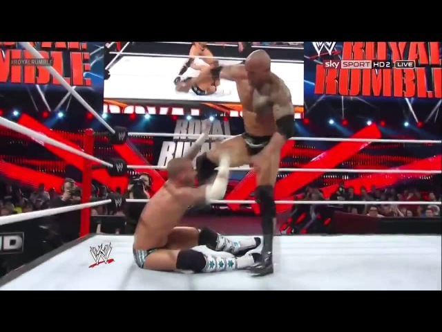 WWE CM Punk VS The Rock Royal Rumble 2013 Highlights