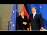 Меркель пришлось догонять Порошенко, чтобы пожать руку