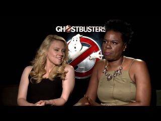 Ghostbusters Official Movie Interview - Kate McKinnon & Leslie Jones