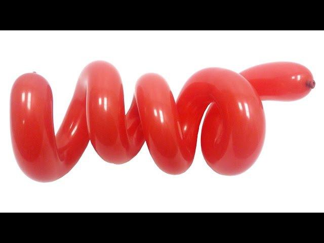 Спираль №1 из воздушных шаров