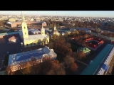 The angel of St. Petersburg.Aerial video Ангел Ст.Петербурга.Аэросъемка