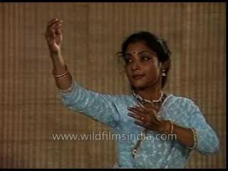 Indian classical dancer Saswati Sen performs Kathak