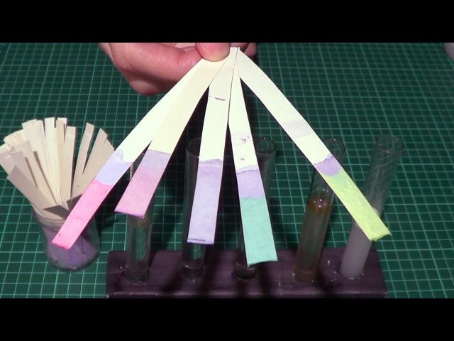 Как сделать лакмусовую бумагу (индикатор) своими руками How to do a litmus paper